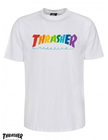 Thrasher Rainbow Mag White T-Shirt