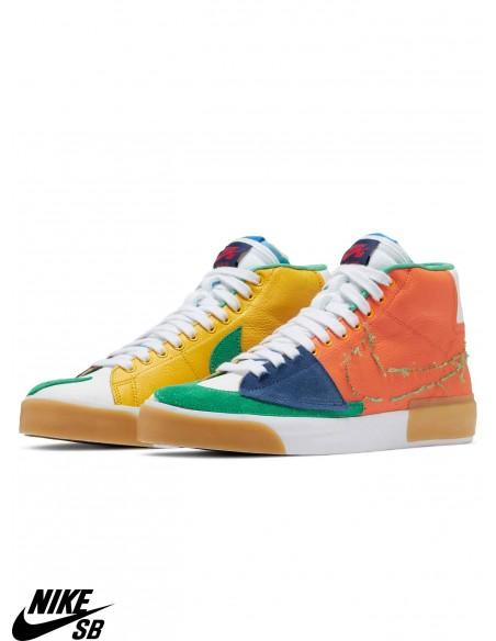Nike SB Zoom Blazer Mid Edge Safety Orange Skate Shoes