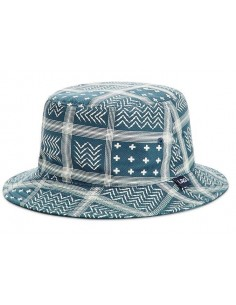 BUCKET HAT LRG BLUE BANDANA RVRS BUCKET