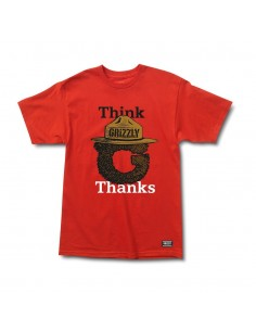 CAMISETA GRIZZLY THINK GRIZZLY RED