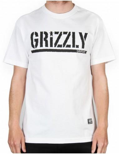T-SHIRT GRIZZLY OG STAMP LOGO WHITE