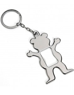 LLAVERO ABRIDOR GRIZZLY BEAR BOTTLE OPENER SILVER